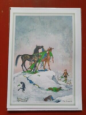 £2.99 • Buy Horse Christmas Card Funny Card Horses BLANK Greetings Card Horse Rugs Presents
