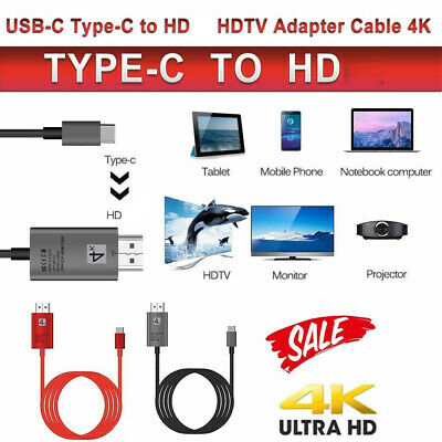 $11.99 • Buy USB Type C To HD HDTV TV Cable Adapter Converter For Macbook Android Phone USA