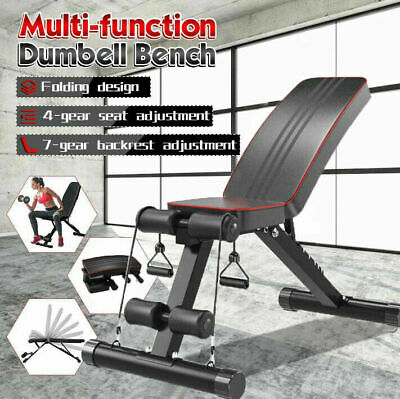 £52.89 • Buy Foldable Weight Bench Adjustable Flat Incline Decline Exercise Strength Training