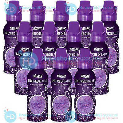 £14.99 • Buy 12 X Airpure Incrediballs Inwash Scent Booster Laundry Pellet Midnight Glow 128g