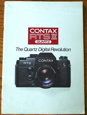 $ CDN4.83 • Buy Contax RTS-II Quartz Sales Brochure Booklet - ENGLISH 32 Pages