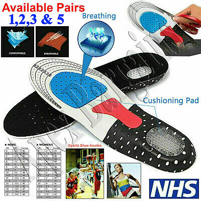 £2.99 • Buy 1/2/3/5x Pairs Orthotic Insoles Work Boots Shoe Inserts Heel Foot Insole UK 7-10