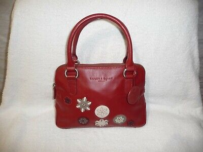 £24 • Buy BAILEY & QUINN Small Red Leather Ladies Double Handle Handbag (w180)