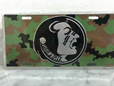 $ CDN15.71 • Buy BRAND NEW SEALED Florida State Seminoles  Camo ARMY MILITARY Metal License Plate