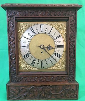 AU1601.06 • Buy Antique 8 Day Fusee Bracket Clock With Tudor Style Case And Rococo Spandrels