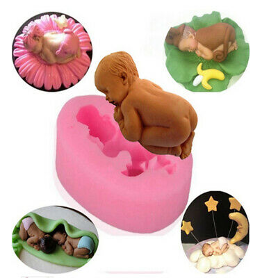 £3.99 • Buy Baby Silicone Fondant Cake Mould Topper Decor Chocolate Candy Soap Baking Molds