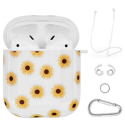 AU7.99 • Buy Apple Airpods 1&2 Protective Shockproof Hard Case Cover Cute Sunflower