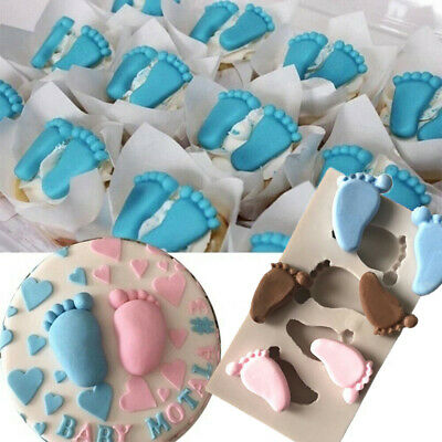 £2.99 • Buy 3D Baby Foot Cake Fondant Mould Silicone Chocolate Mold Soap Baby Shower Decor