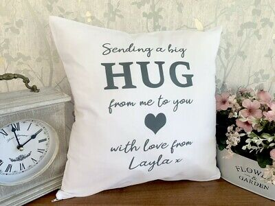 £12.99 • Buy Personalised Cushion Pillow Case Cover Send A Hug Love Cute Name Me To You