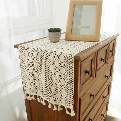 AU16.67 • Buy Vintage Crochet Lace Table Runner Doily Dining Mats Wedding Party Banquet Decor