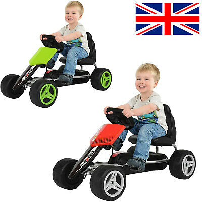 £72.88 • Buy Go Kart Kids Childrens Pedal Ride On Car Racing Toy Rubber Tyres Wheels 4-8 Year