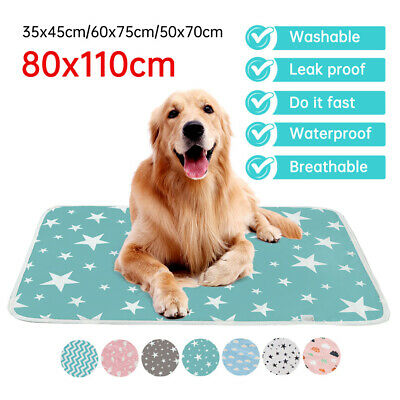 £9.99 • Buy Pet Pee Pads Mats Puppy Training Pads Toilet Wee Cat Dog Supplies Washable Large