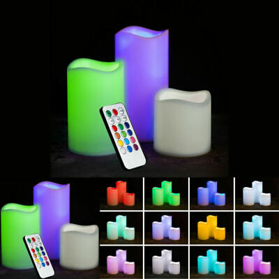 £7.99 • Buy New Home 3 Battery Operated Led Candles Color Changing Flameless  Candles Remote