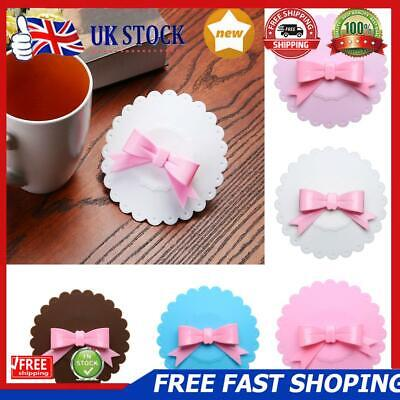 £4.35 • Buy Bowknot Dustproof Reusable Cup Silicone Lid Cup Cover Seal Cover