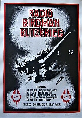 AU60 • Buy Radio Birdman Blitzkrieg Poster 2011 Signed Limited Edition