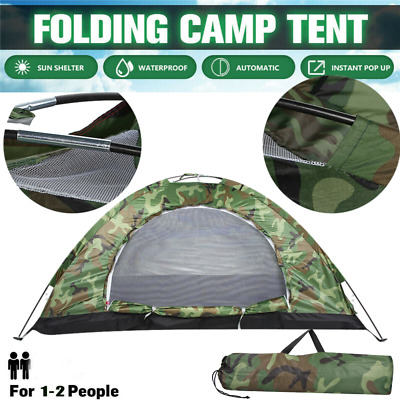 £16.99 • Buy Pop Up Hiking Large Tent 1-2 Man Person Family Camping Outdoor Festival Shelter