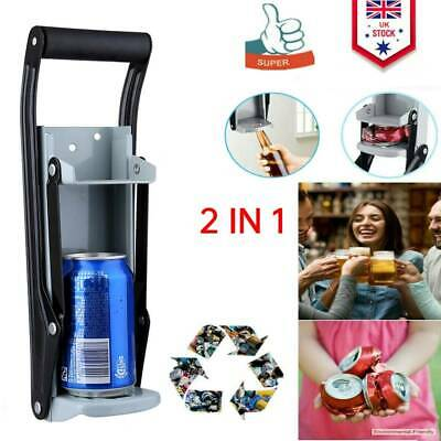£7.17 • Buy 16oz Aluminum Beer Tin Can Crusher Wall Mounted Recycling Tool & Bottle Opener
