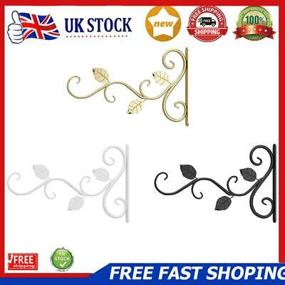 £7.69 • Buy Wall Mounted Flower Pot Rack Hook Decorative Plant Bracket Hanger Iron Cast
