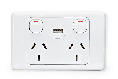AU15.95 • Buy 10 A Amp 240V Light Switch Double Power Point Wall Socket Outlet GPO Plate USB
