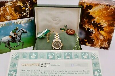 $ CDN7159.23 • Buy Rolex Ladies Datejust 69173 With Box And Papers Full Set 1990