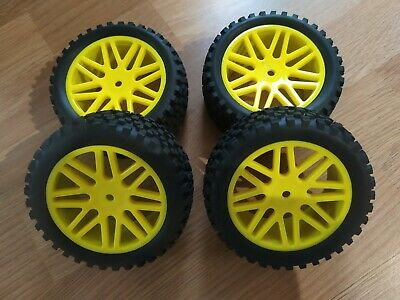 £22.99 • Buy 1/10 Scale Rc Buggy Wheels And Tyres Foam Inserts 12mm Hex