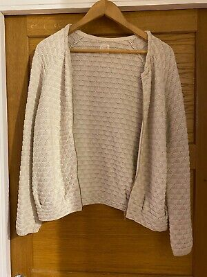 £25 • Buy Des Petits Hauts Cotton Cardigan In Cream And Gold Lurex Size T1
