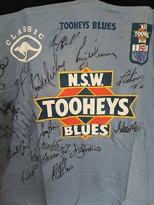 AU150 • Buy NSW Toohey's Blue's  State Of Origin Football Jersey Signed Team  From 98/99
