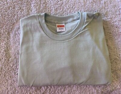 $ CDN18.19 • Buy Supreme Blank Tee Pale Blue Size Large Long Sleeve