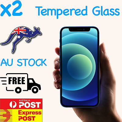 AU3.89 • Buy 2x IPhone 12 11 Pro Max XS Max XR SE 8 Tempered Glass Screen Protector For Apple