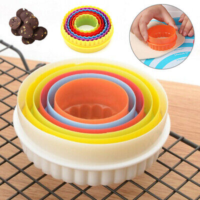 £3.68 • Buy 6 Pack Cookie Scone Cutters Twin Edge Crinkle Round Cake Pastry Bake Mold Set