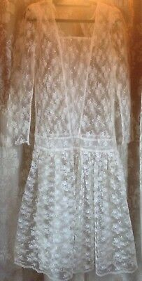 AU22 • Buy Vintage 80s Does 20s Mr Simon Lace Wedding Dress For Repair Or Repurpose Small