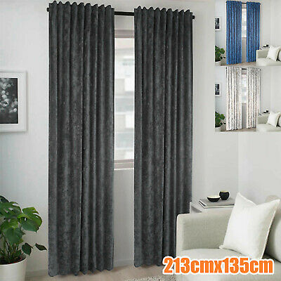 £14.49 • Buy Door Curtain Thermal Self Lined Crush Winter Prevents Heat Loss Reduces Draughts
