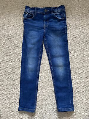 £4 • Buy Next Boys Blue Skinny Jeans Age 6 Years With Adjustable Waist
