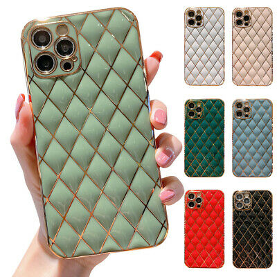 AU8.98 • Buy Shockproof Geometric Silicone Case Cover For IPhone 12 11 Pro Max X XR 8 7 Plus
