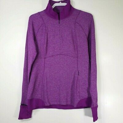 $ CDN50.53 • Buy Lululemon Women's Top 12 Runderful 1/2 Zip Long Sleeve Heathered Tender Violet