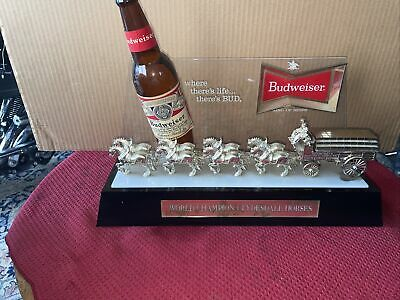 $ CDN250.51 • Buy Budweiser King Of Beers World Champion Clydesdale Horses Lighted Sign