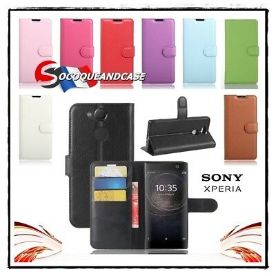 AU14.46 • Buy Case Cover Xcolors Leather PU Leather Wallet Sony Xperia XA2