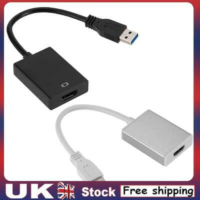 £10.47 • Buy USB Type A Male To HDMI Female External USB 3.0 To 1080p HDMI Video Card Adapter
