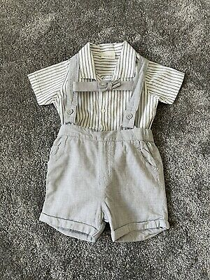 £5.99 • Buy Next Boys Smart Shirt, Shorts & Bow Tie Outfit 3-6 Months