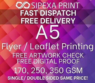 £6.99 • Buy A5 Flyer Printing, A5 Leaflet Printing, Single Or Double Sided Same Price