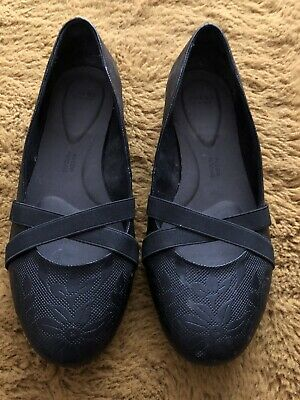 Evans Black Slip On Shoes Pillow Padding Extra Wide Fit Size 6 EEE   • 7.50£