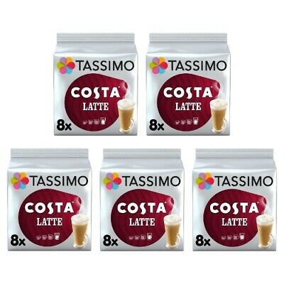 £22.45 • Buy Tassimo Costa Latte Pack Of 5 (Total Of 40 Coffee Pods)