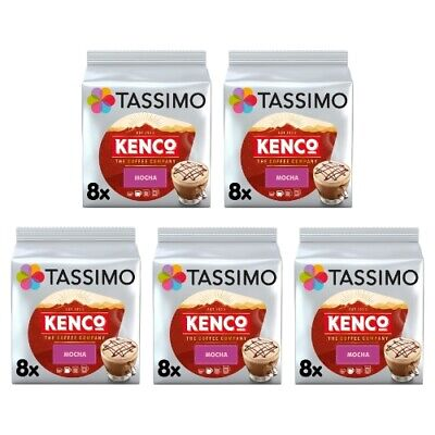 £17 • Buy Tassimo Kenco Mocha Coffee Pods T-Discs Pack Of 5 (Total Of 40 Servings)