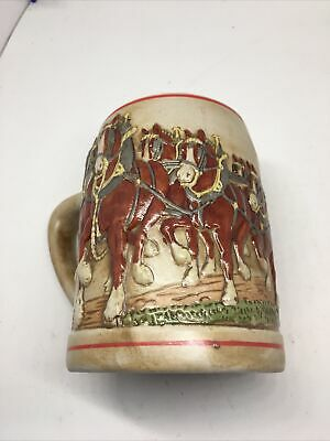 $ CDN62.93 • Buy 1980 Budweiser Holiday Collector Stein. Red Crates. Made In Brazil. Cermarte.