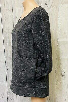$ CDN47.31 • Buy LULULEMON Women's Black Heathered Long Sleeve Pullover Size 12 Cotton Blend