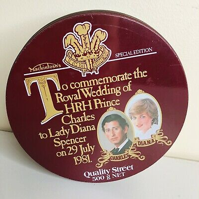 £13.63 • Buy Charles & Diana Vintage Quality Street Round Tin Collector