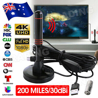 AU12.95 • Buy New Portable Indoor Outdoor TV Antenna Digital Freeview Aerial Ariel HDTV