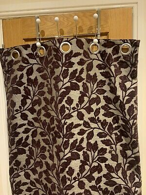 £60 • Buy Dunelm Mill Curtains Fully Lined Blackout In Plum Leaf 46x72