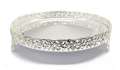 £7.99 • Buy Silver Pandan Candle Plate Decorative Tray Centerpiece Perfume Tray