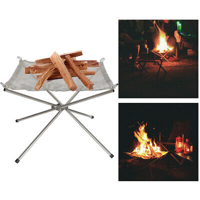 £11.99 • Buy Folding Portable Fire Pit Mesh Fire Pit Bonfire Stand Outdoor Camping Patio UK